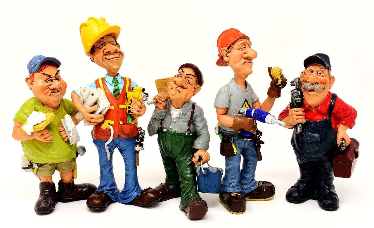 craftsmen, site, workers