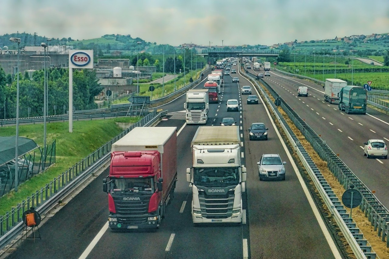 highway, road, truck