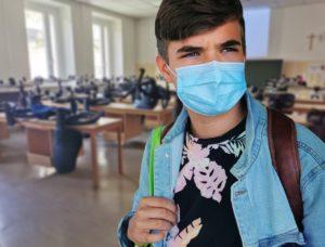 student, mask, school boy