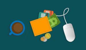 wallet, digital, mouse