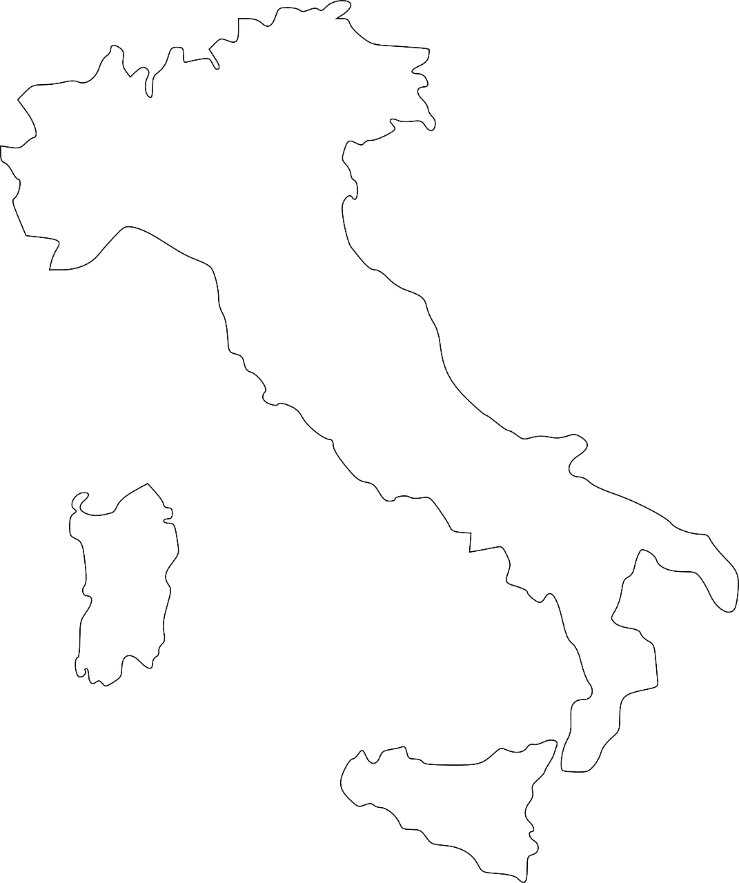 italy, map, country
