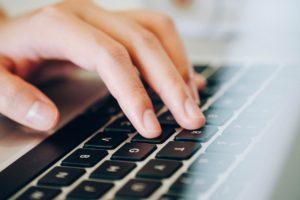 laptop, human hands, keyboard