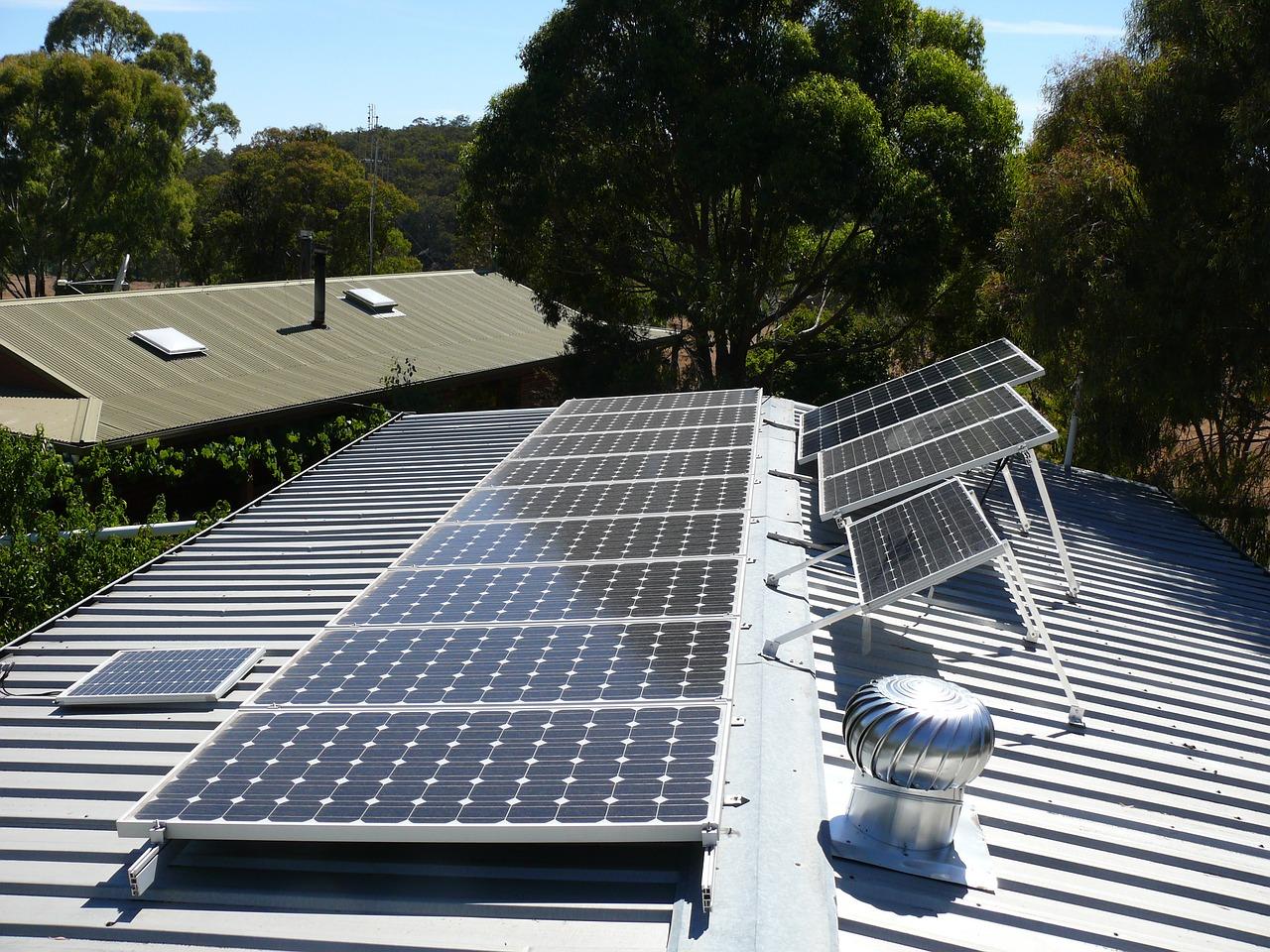 solar, roof, panels