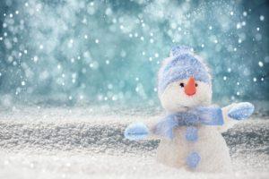 snowman, snow, hat