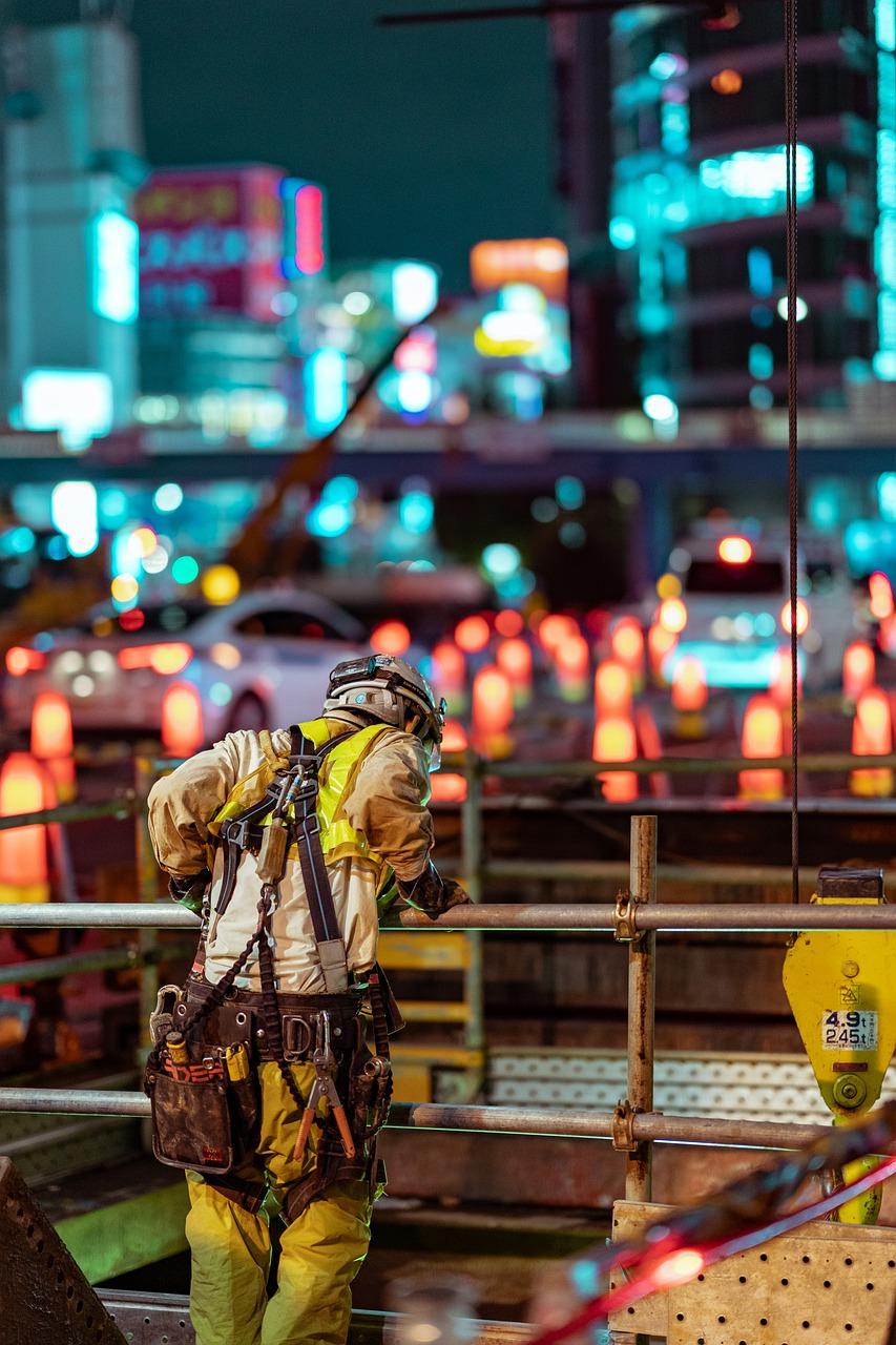 work, street, night