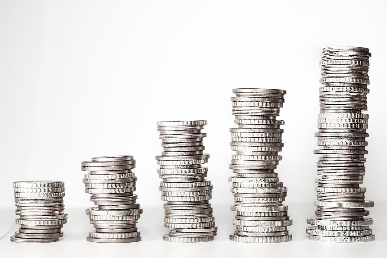 money, money tower, coins