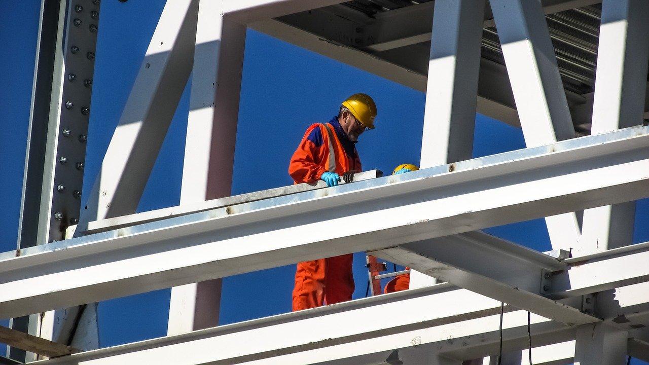 worker, construction site, helmet