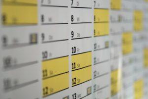 calendar, wall calendar, days
