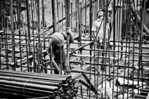 worker, subway construction site, construction