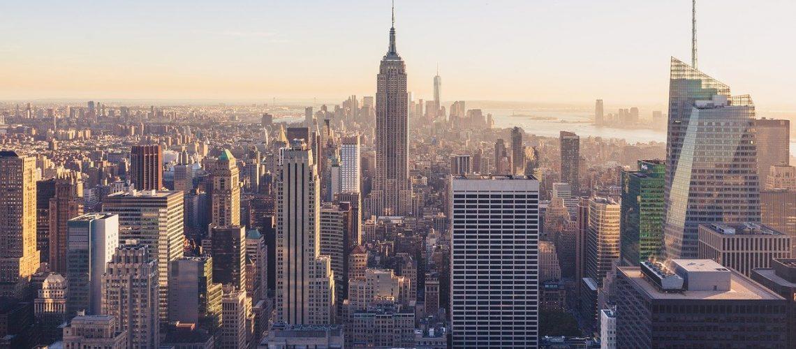 buildings, skyline, city