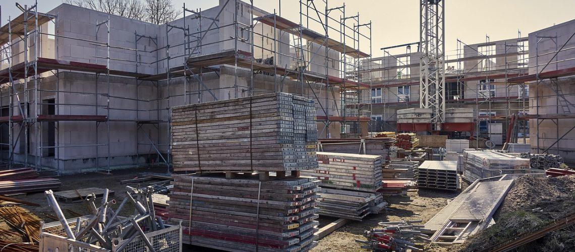 construction, site, crane