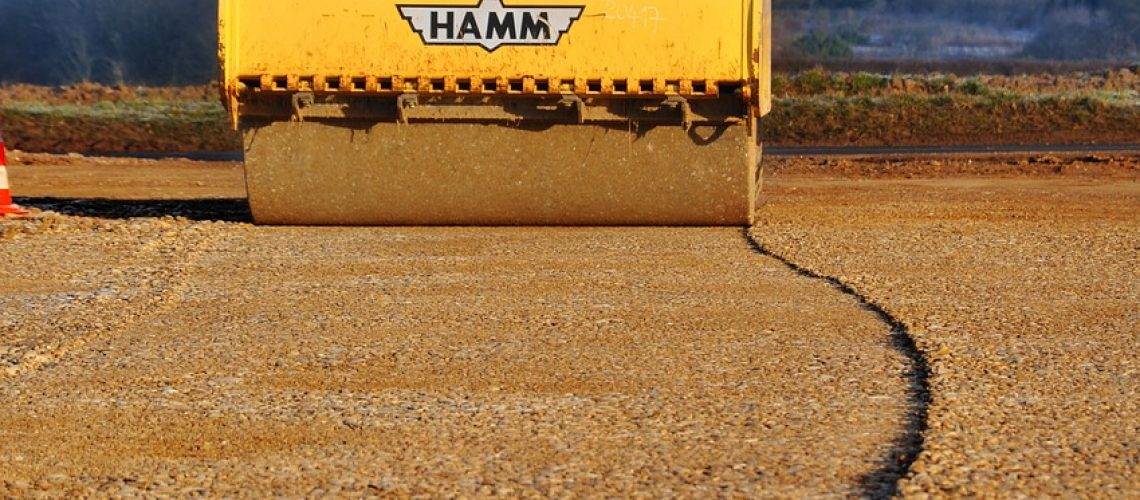 steamroller, construction equipment, earth-moving machinery